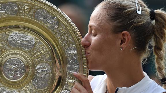 Kerber has now won Wimbledon, US Open and Australian Open