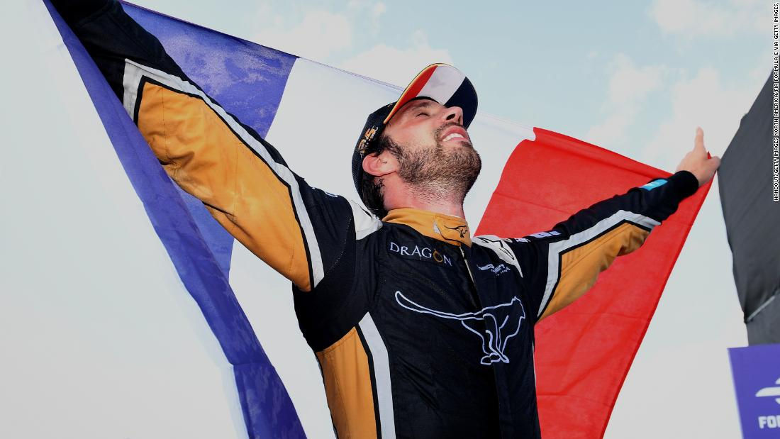 Vergne triumphed for France just one day before his country beat Croatia to win football's World Cup final.