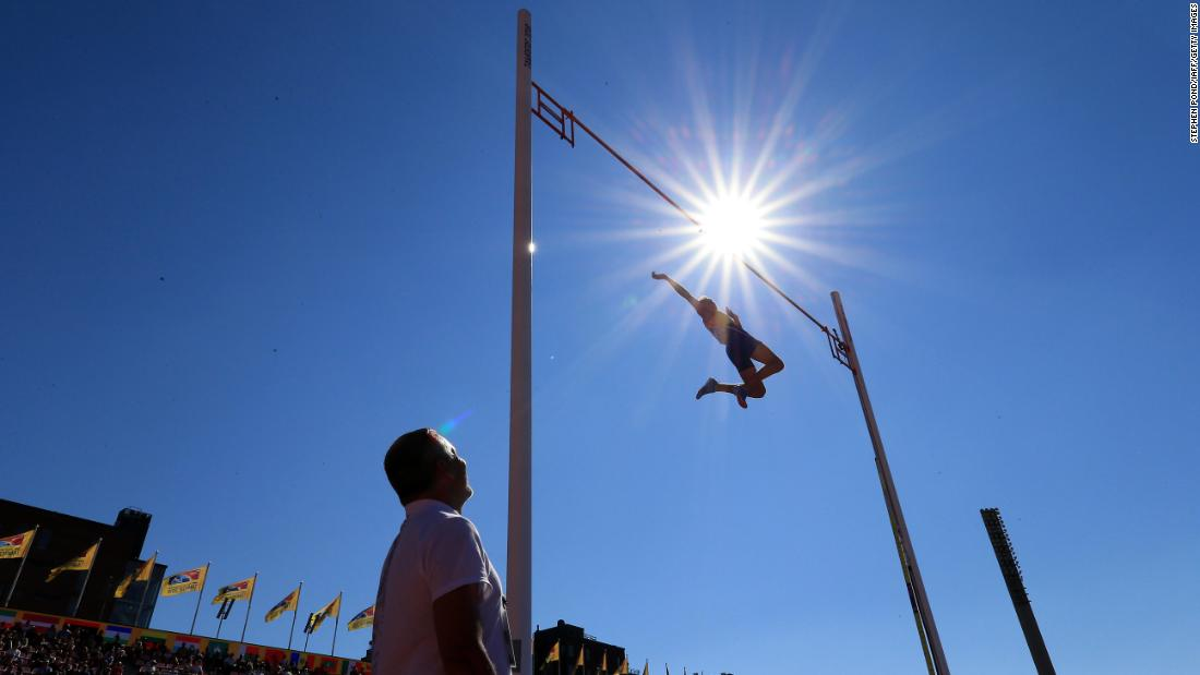 Armand Duplantis of Sweden in action during the final of the men΄s pole vault on day five of The IAAF World U20 Championships on Saturday, July 14, in Tampere, Finland.
