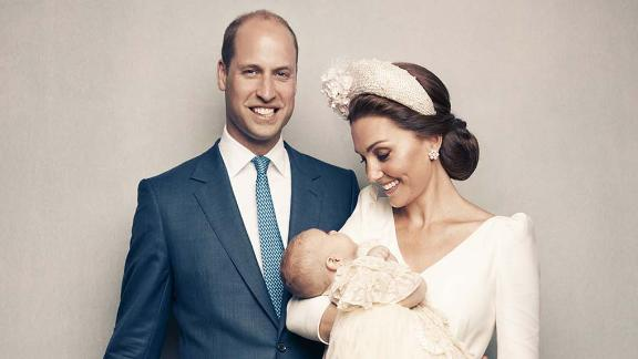 The Duke and Duchess of Cambridge, Prince George, Princess Charlotte and Prince Louis, following Prince Louis's christening.