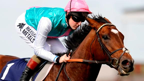 Frankel at Newmarket racecourse in England, on September 29, 2012.