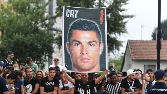 Juve fans also turned up in force for Ronaldo's medical on July 16.