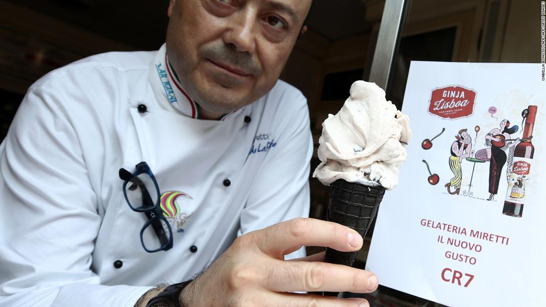However, local business owners in Turin have jumped on the Ronaldo bandwagon. Mister Leonardo, from Miretti's ice-cream shop in downtown Turin, created a CR7 ice cream flavor made with Ginja Lisboa, a typical Portuguese sour cherry liqueur, and chocolate flakes.