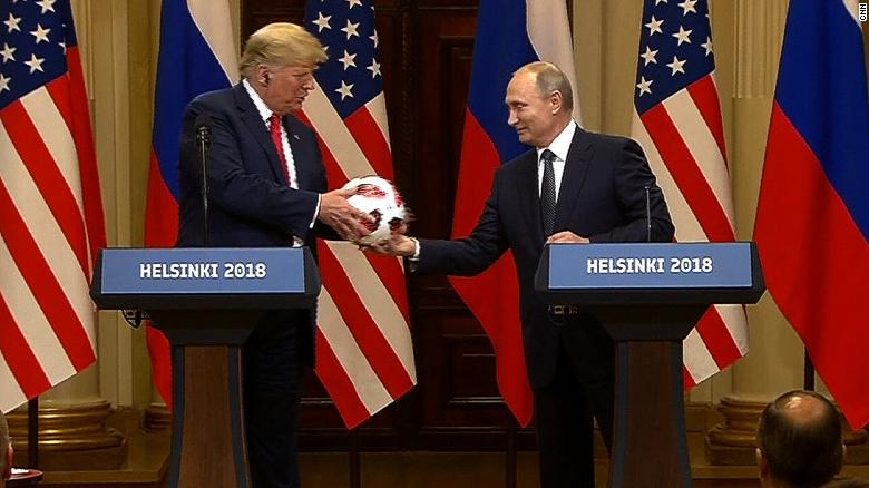 f708d93aa Vladimir Putin may have given Trump a soccer ball with a transmitter ...