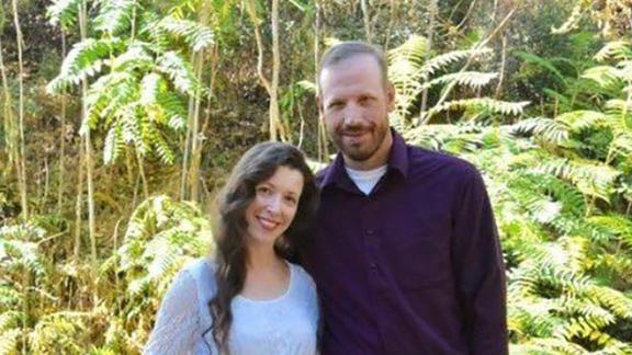 Braden Varney with his wife Jessica.