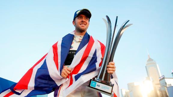 Sam Bird celebrates the ultimate start to the 2017-18 Formula E season, winning the inaugural Hong Kong race. It was part of a season-opening doubleheader.