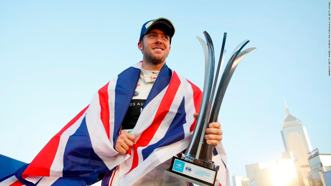 Sam Bird celebrates the ultimate start to the 2017-18 Formula E season, winning the inaugural Hong Kong race. It was part of a season-opening doubleheader.