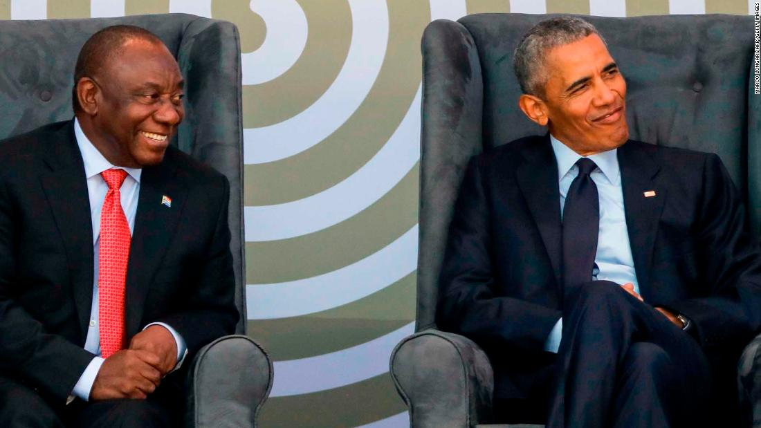 Obama makes speech in South Africa to honor Mandela
