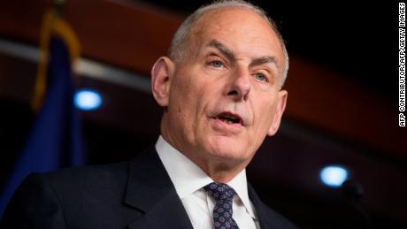 US Secretary of Homeland Security John Kelly speaks about immigration enforcement legislation during a press conference on Capitol Hill in Washington, DC, June 29, 2017.