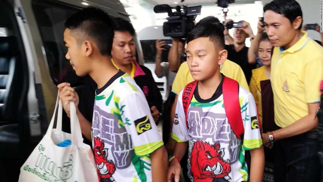 Thai boys recall battle to survive cave ordeal