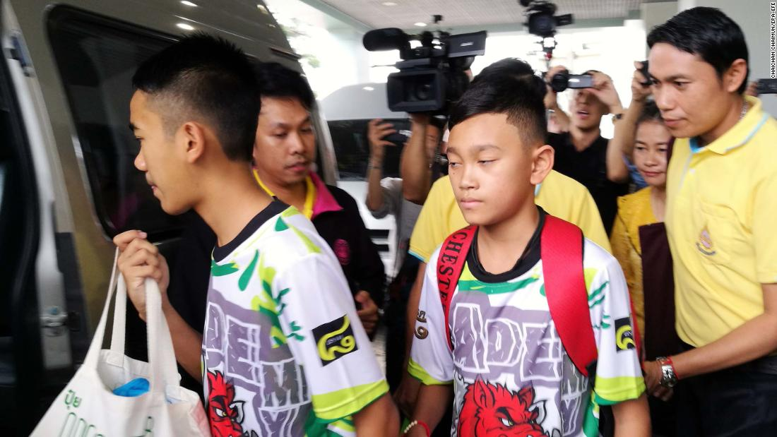 Image result for Thai boys recall battle to survive cave ordeal -- and moment they were found