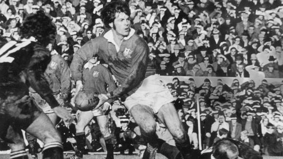 """Welsh rugby player Barry John was just 27 when he retired, citing pressure from the media that had seen him dubbed """"King John"""" for his play-making talent. He top-scored in the Lions' famous series victory over the All Blacks in 1971."""