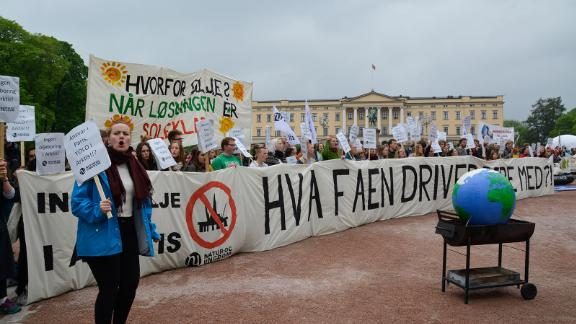 In Norway, Greenpeace and Nature and Youth, pictured here, filed a lawsuit against the Norwegian government, saying that it violated the constitution by issuing licenses for deep-sea oil and gas drilling in the Arctic.