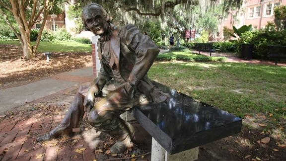 A state of Francis W. Eppes sits on Florida State University's campus in Tallahassee, Florida.