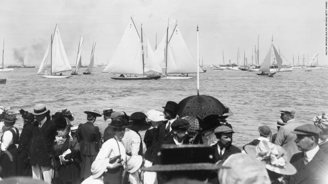 Crowds have been gathering to watch the yachts from Cowes at the Isle of Wight since 1826.