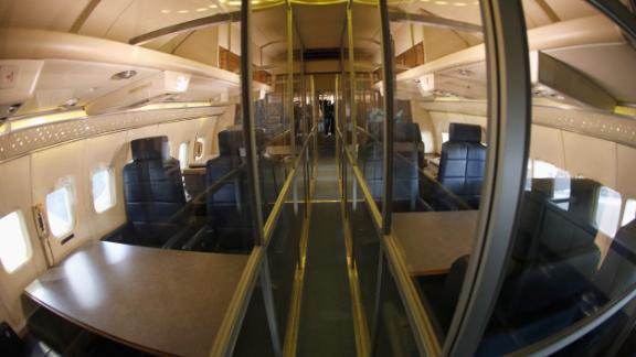 The cabin of the Special Air Mission (SAM) 26000.