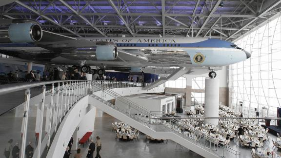 A view of the new Air Force One Pavilion at the Ronald Reagan Presidential Library in Simi Valley, California, 21 October 2005.