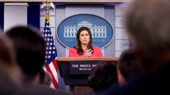 White House press secretary Sarah Huckabee Sanders calls on a member of the media during the daily press briefing at the White House, Wednesday, July 18, 2018, in Washington. (AP Photo/Andrew Harnik)