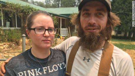 The California mountain town where Kristina and Nick Smith live is being threatened by the Ferguson fire.