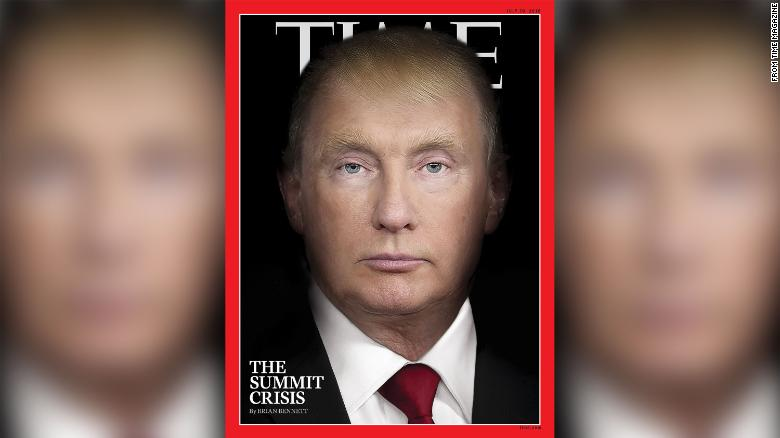 Donald Trump And Vladimir Putin Morph Into The Same Person In Time Magazine Cover Cnnpolitics