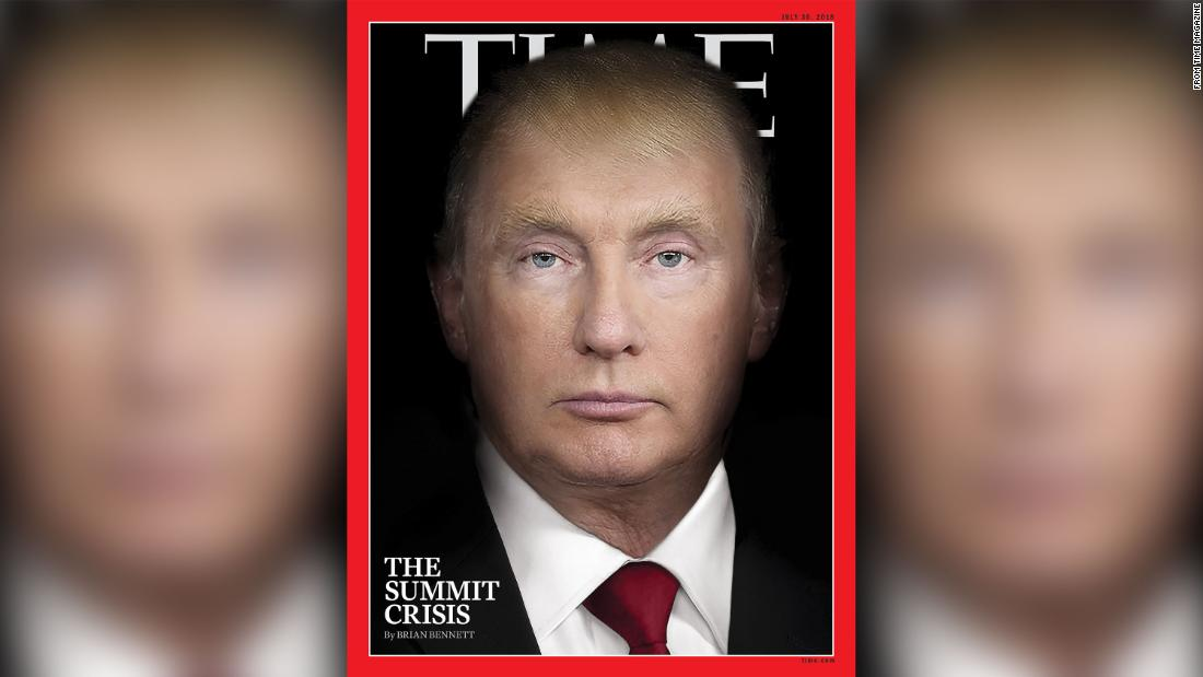 Donald Trump and Vladimir Putin morph into the same person in TIME magazine cover