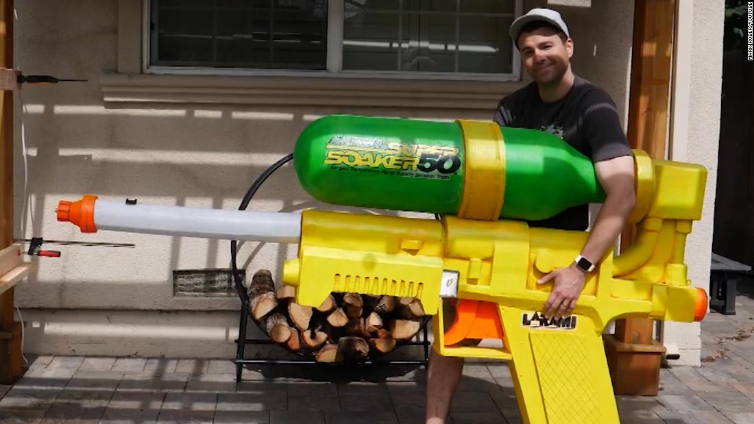 A former NASA engineer has created what may be the world's largest water gun. And it's Yuge!