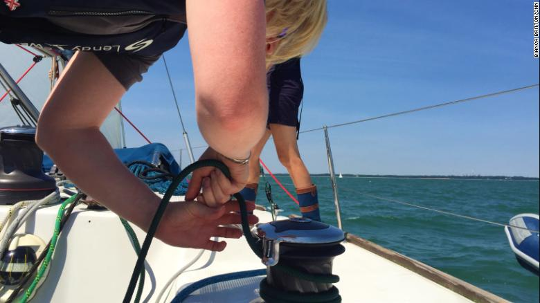Hodges helps blind and partially sighted people achieve confidence on the water.