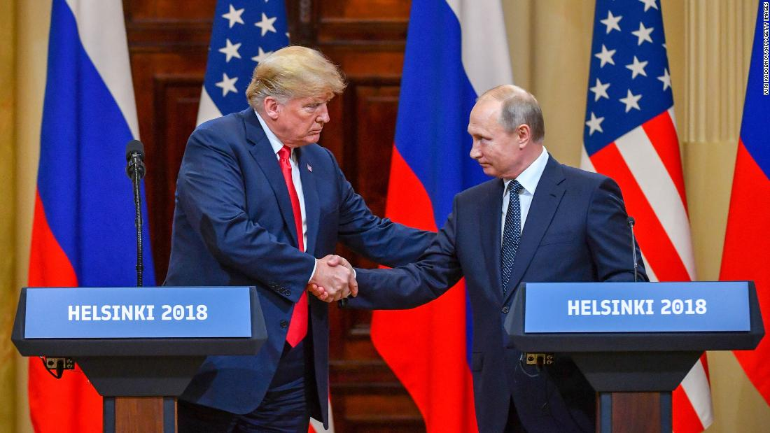 "US President Donald Trump, left, shakes hands with Russian President Vladimir Putin at the end of <a href=""https://www.cnn.com/interactive/2018/07/politics/trump-putin-summit-cnnphotos/"" target=""_blank"">their summit</a> in Helsinki, Finland, on Monday, July 16. The Putin meeting was the last part of Trump's <a href=""https://www.cnn.com/interactive/2018/07/politics/trump-europe-trip-cnnphotos/"" target=""_blank"">weeklong trip to Europe.</a>"