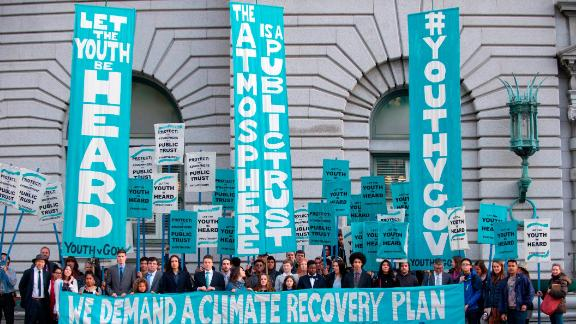 Youth activists have been at the forefront of a number of climate lawsuits against governments, including the 21 young plaintiffs suing the US government for failing to address the climate crisis.