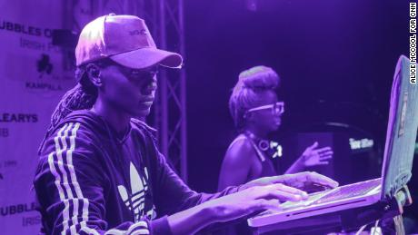 DJs Rachael (left) and Kampire (right) playing at Femme Famous, an event organized by Rachael featuring female DJs who she's mentored.