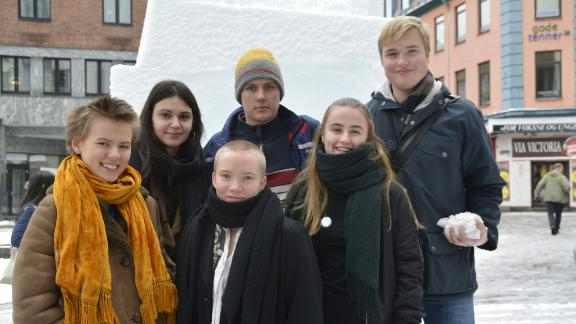 However, the Oslo district court said the government's oil and gas plans were acceptable and dismissed the lawsuit in January this year. Greenpeace and Nature and Youth have since appealed the decision.   Pictured here: Members of Norway's Nature and Youth in front of the Oslo district court.