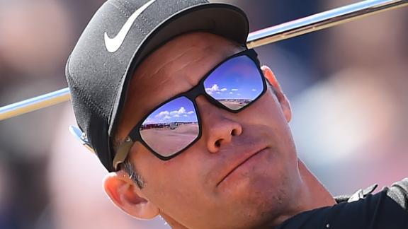 Paul Casey watches a tee shot on Thursday.