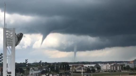 Multiple tornadoes were reported across Iowa Thursday.