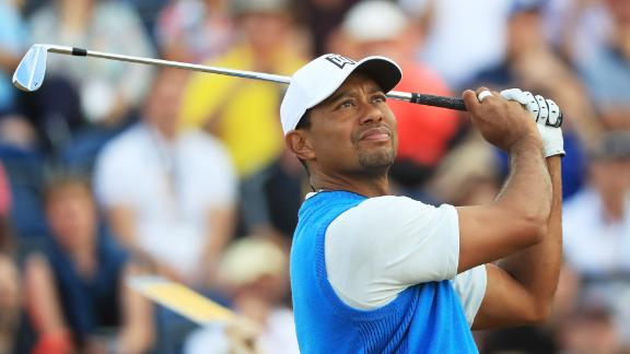 Tiger Woods is playing in his first Open since 2015.