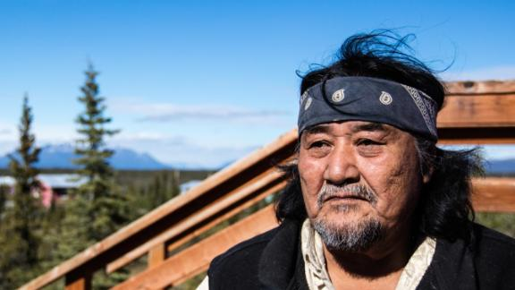 Louie John in Arctic Village, where he is a Gwich'in tribal elder and former chief