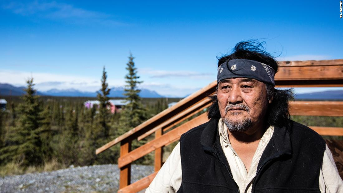 Louie John in Arctic Village, where he is a Gwich'in tribal elder and former chief.