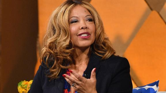 NEW YORK, NY - APRIL 12:  Congressional candidate in Georgia's 6th District Lucy McBath (R) speaks onstage during Vanity Fair's Founders Fair at Spring Studios on April 12, 2018 in New York City.  (Photo by Dia Dipasupil/Getty Images for Vanity Fair)