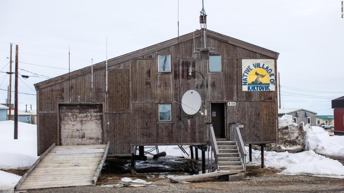 Kaktovik, only accessible by sea or air, nestles on the edge of the Arctic National Wildlife Refuge.