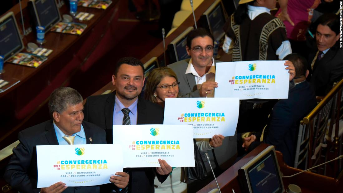 FARC members join Colombia's Congress