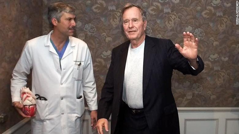 George H W  Bush's heart doctor shot, killed