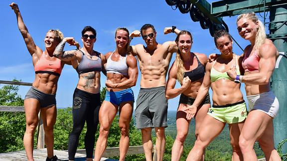 Davidsdottir trains with friends and rivals alike ahead of the CrossFit Games.
