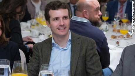 Newly-elected leader of Spain's Popular Party  Pablo Casado Blanco