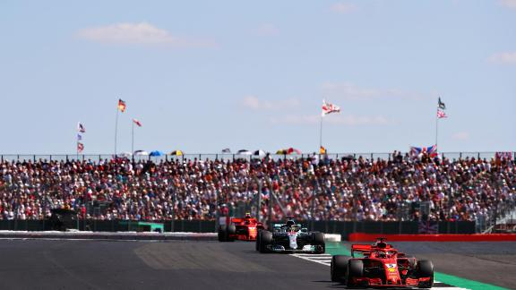 Home favorite Lewis Hamilton was denied a sixth victory at the British Grand Prix as Ferrari