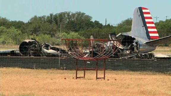 A WWII era military cargo plane crashed on takeoff in Burnet, Texas.