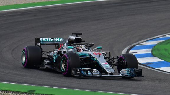 Hamilton fought back from 14th on the grid to claim an astonishing victory as Vettel crashed out at Hockenheim.