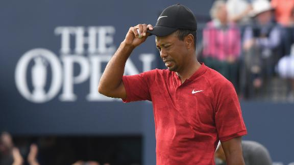 Tiger Woods was bidding for a 15th major title 10 years after his last.