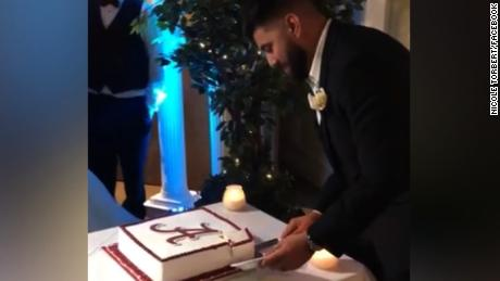 Bride Shocks Groom With Wedding Cake Twist Cnn Video