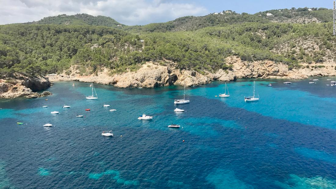 A favorite spot to anchor is along the west coast of Ibiza, south of Cala Benirras.