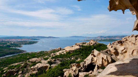 A view of the La Maddalena archipelago which boasts spectacular rock formations sculpted by the Mistral winds.