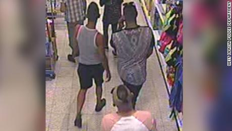 Police released this security camera image of suspects in the attack in the English city of Worcester.